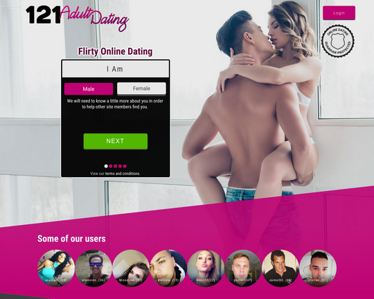 121 Adult Dating Logo