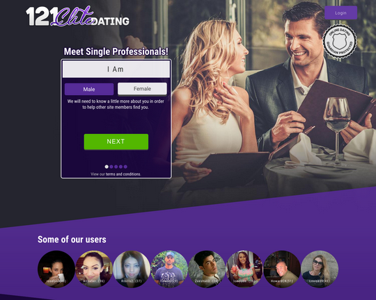 121 Elite Dating Logo