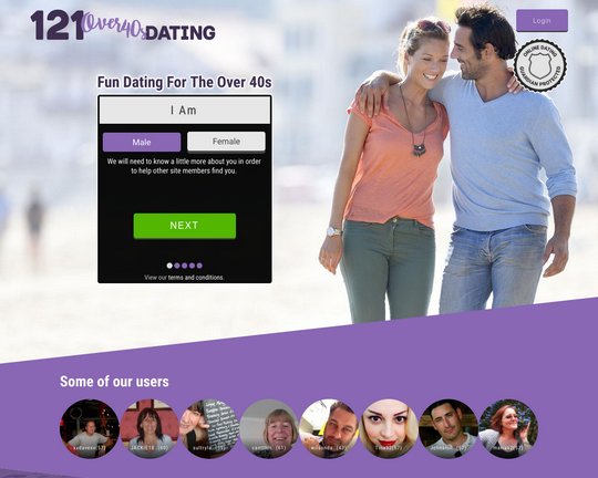 121 Over-40s Dating Logo