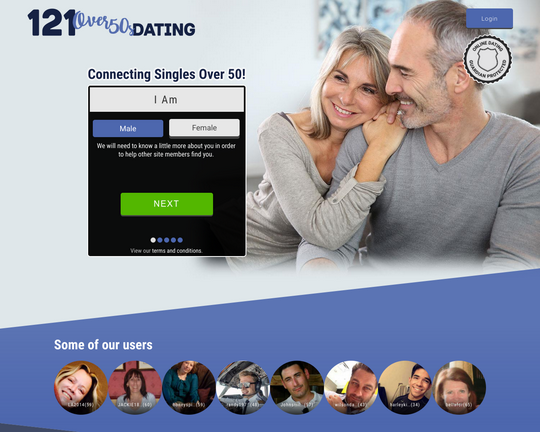 121 Over-50s Dating Logo