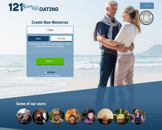 121 Over-60s Dating Logo