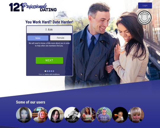 121 Professionals Dating Logo